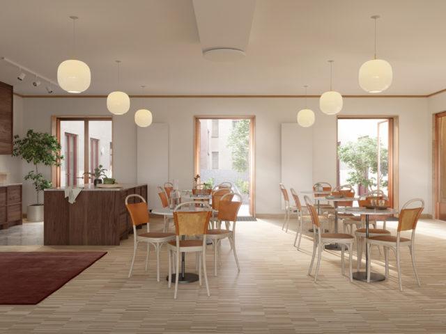 Kungsgatan 57 interiör matsal