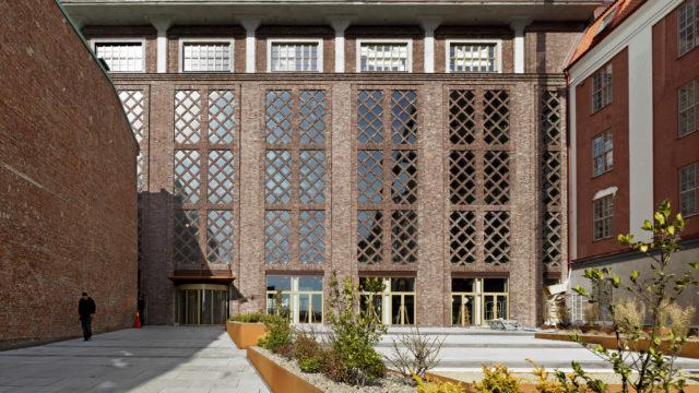 Pagodenområdet Pagodens fasad tegelraster