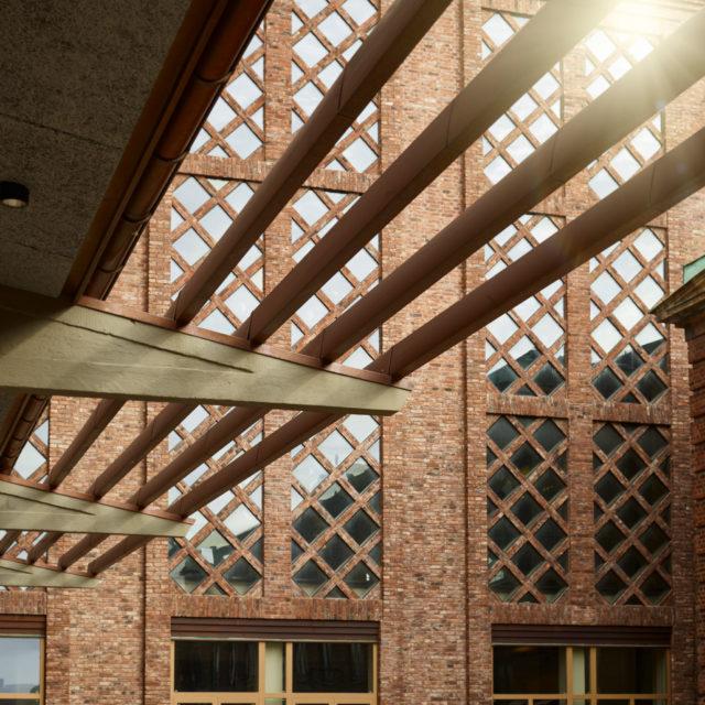 Pagodenområdet exteriör fasaddetaljer