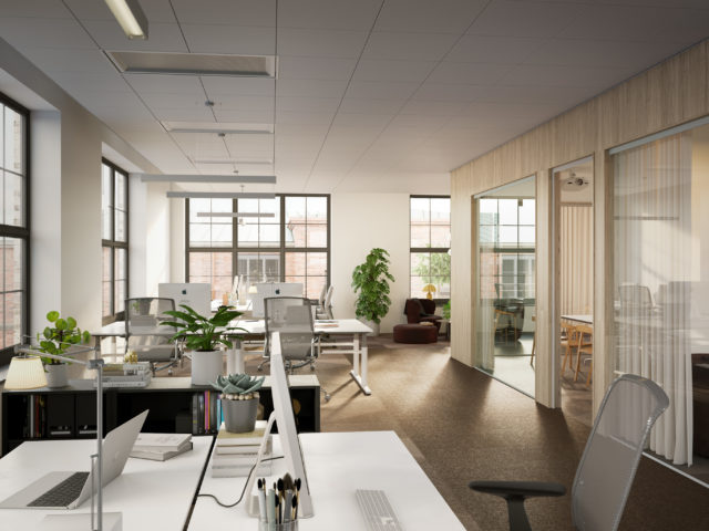 Pagodenområdet interiör kontorslandskap