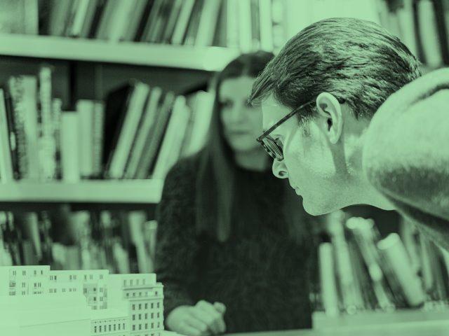 Johanna Vestlin, inredningsarkitekt och Isak Heedman arkitekt på Semrén & Månsson i Göteborg